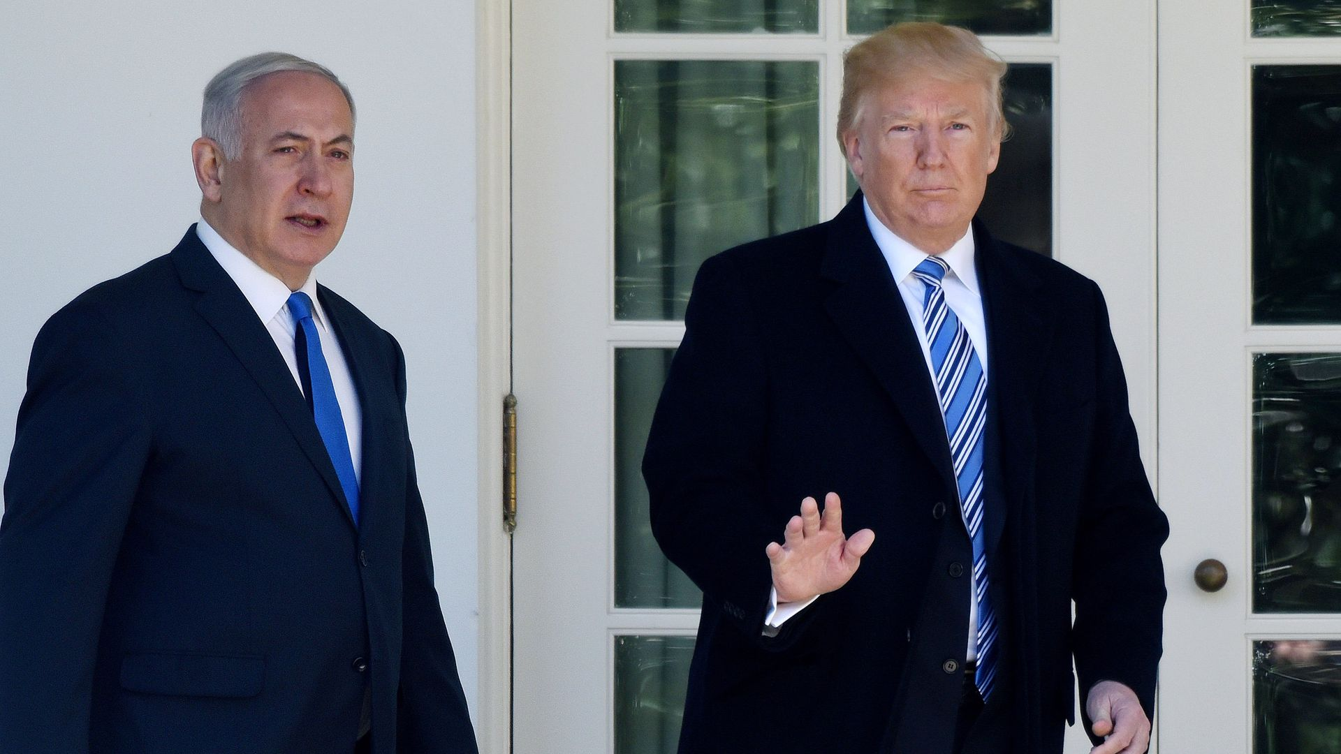 Trump told Macron he's ready to pressure Netanyahu to back peace plan