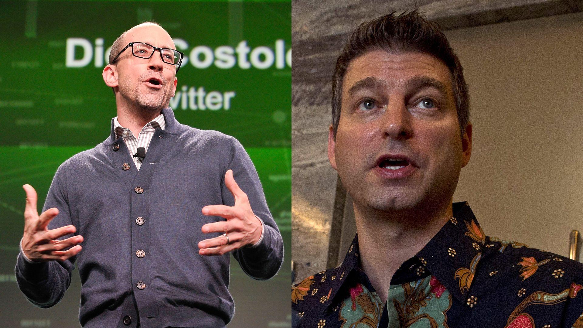 Ex-Twitter execs Dick Costolo and Adam Bain.