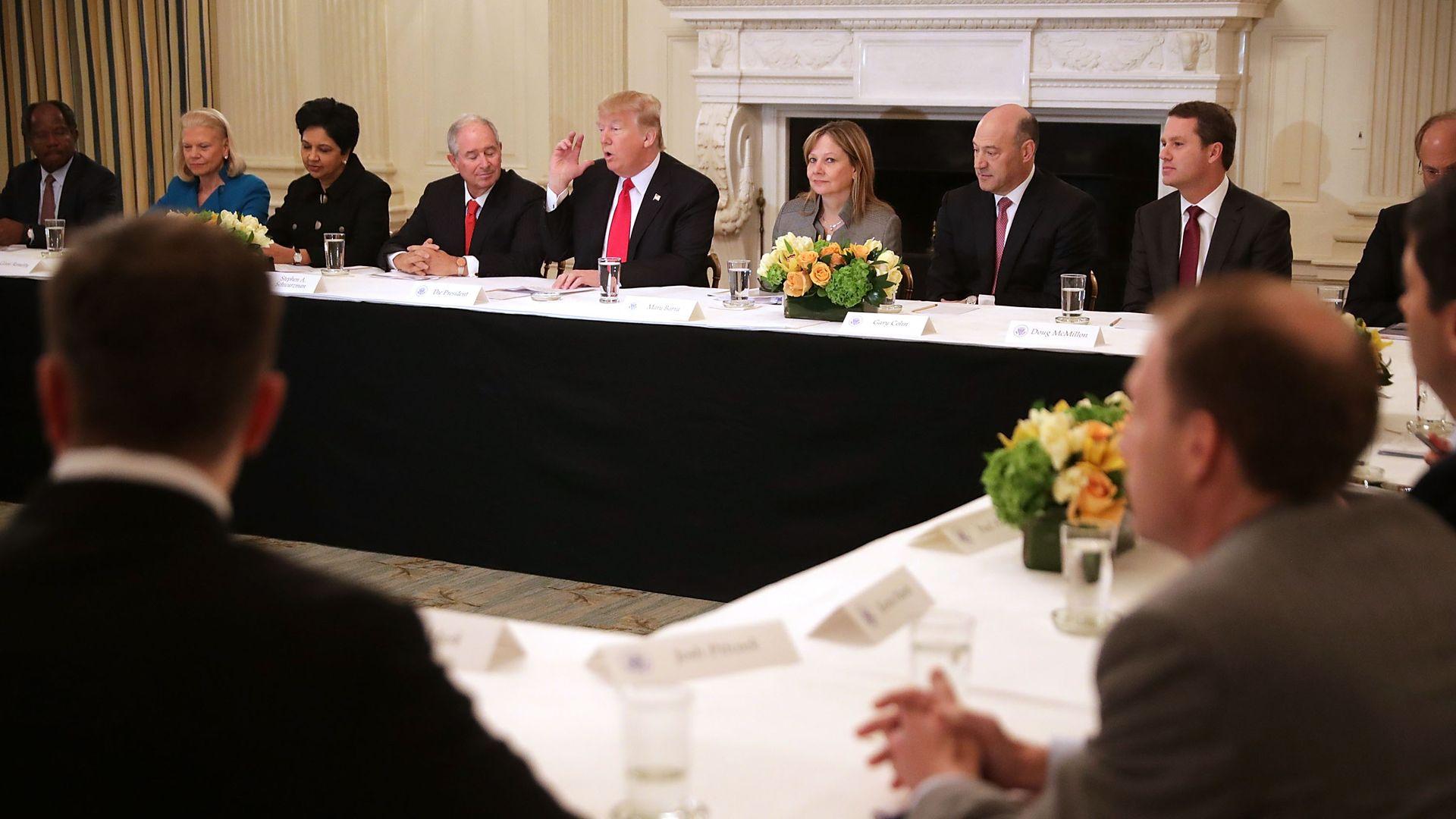 Trump with CEOs