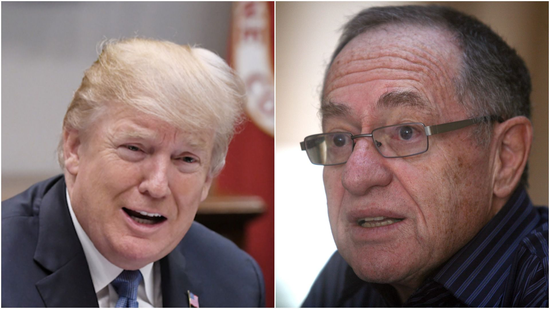Donald Trump and Alan Dershowitz