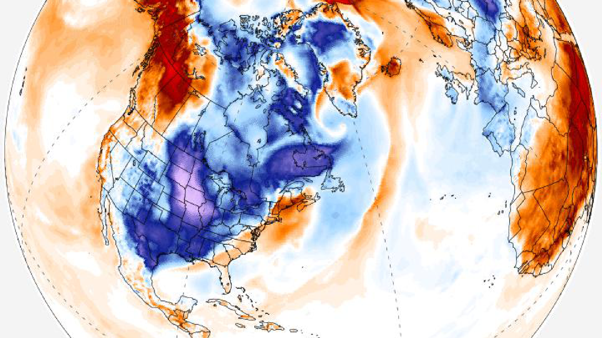 A frigid, wild weather pattern will strike the eastern half of the U.S. and parts of Europe
