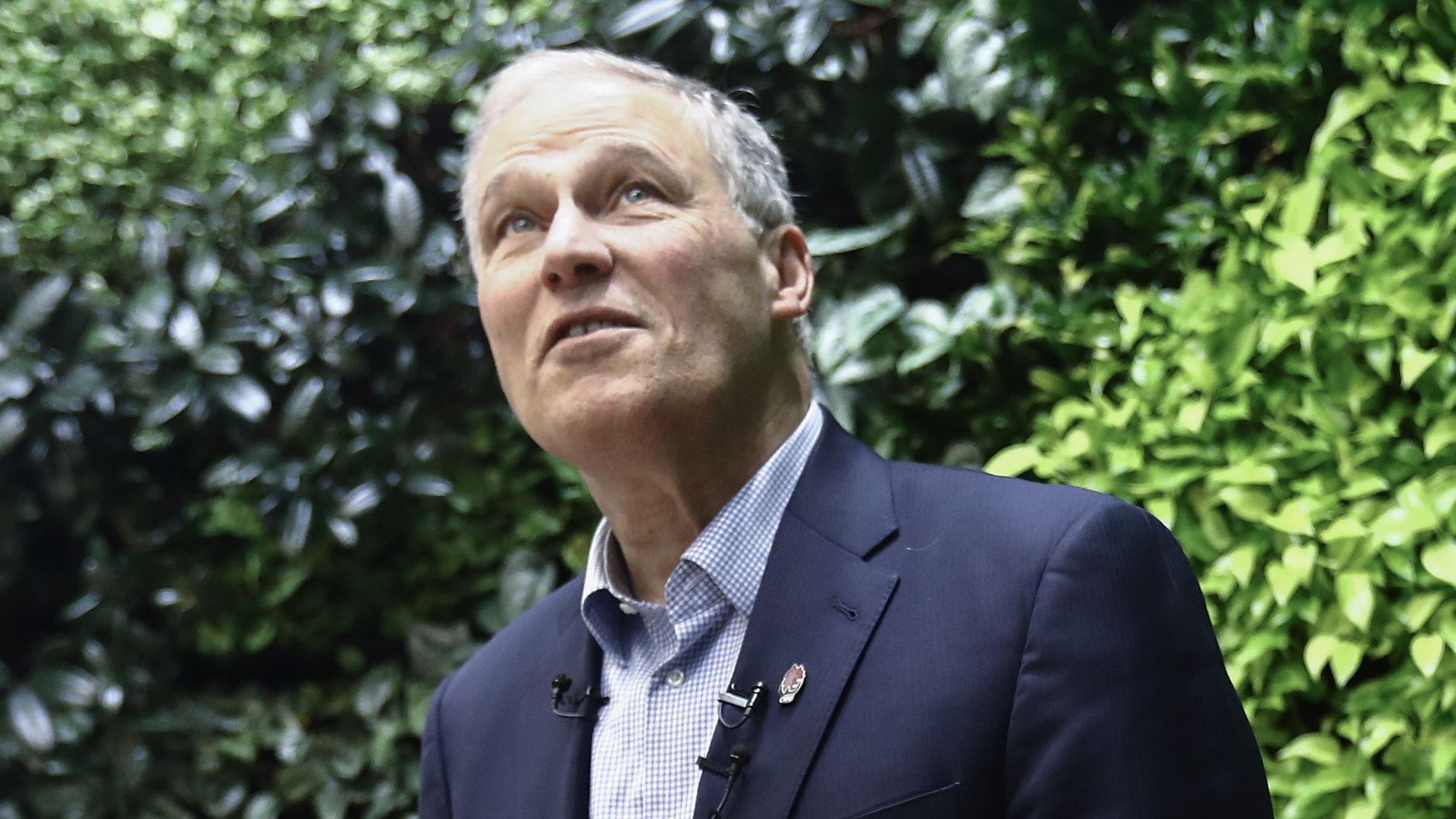 Democratic presidential candidate and Washington Governor Jay Inslee.