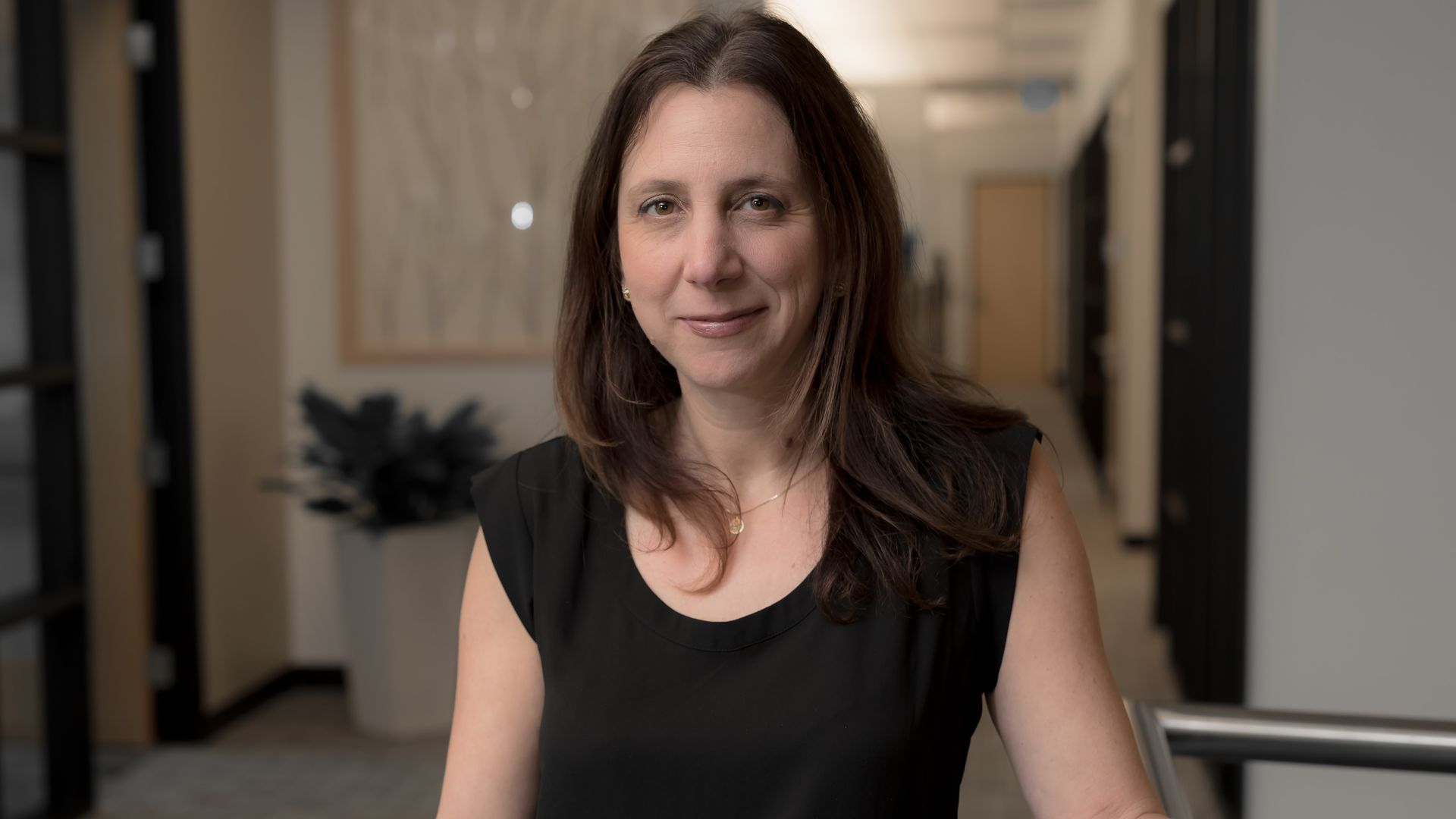 Photo of Paula Goldman, who's the global lead for Omidyar Network's Tech and Society Solutions Lab