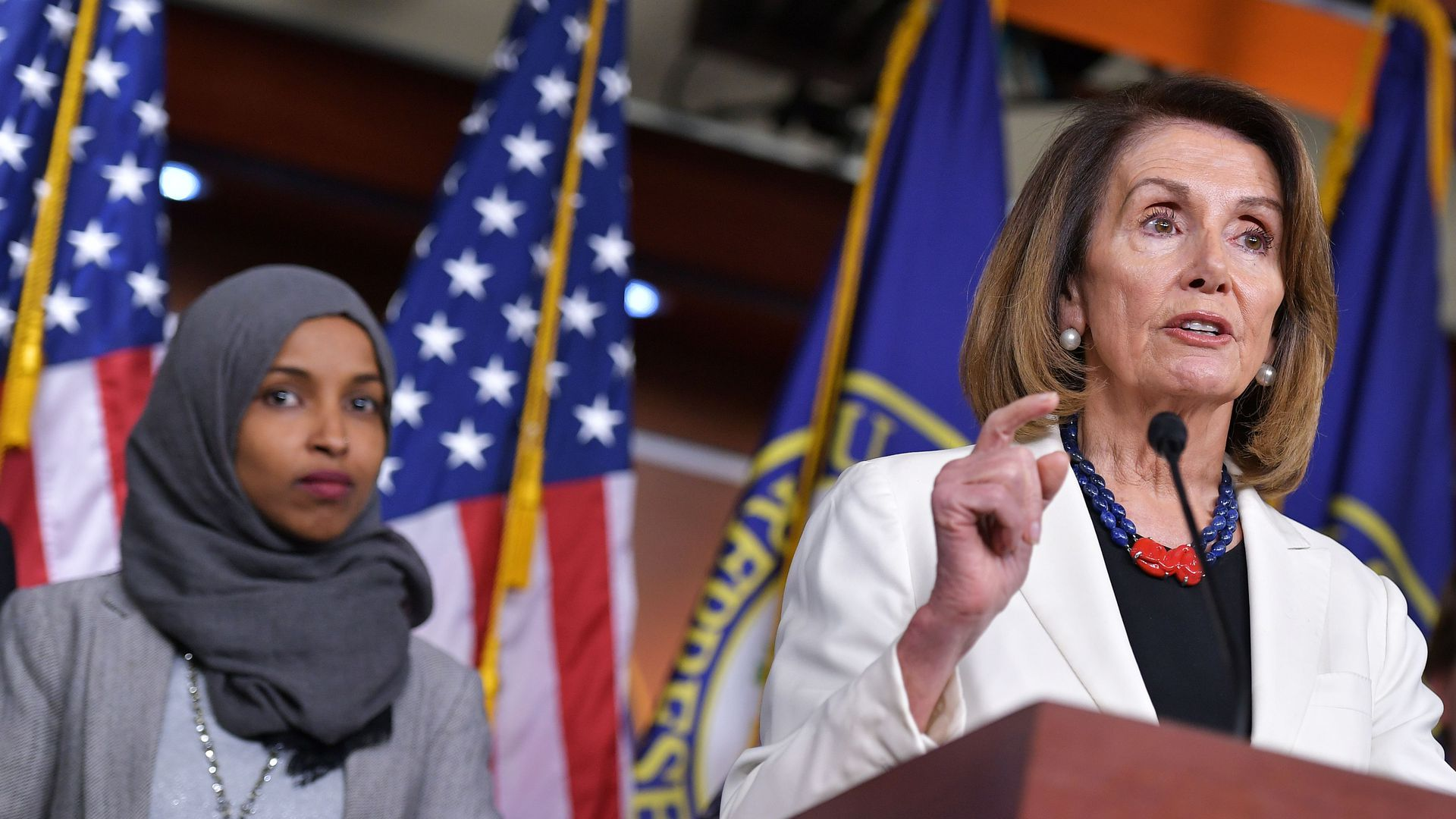 Nancy Pelosi spoke out against President Trump's retweet of an Ilhan Omar video.