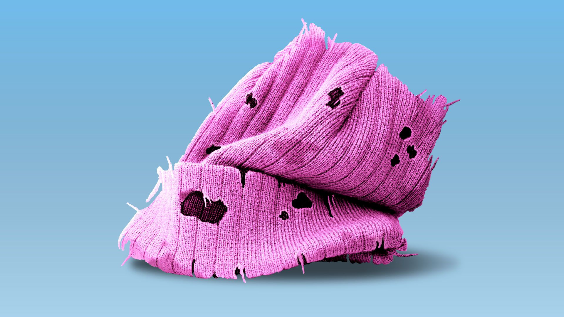 Illustration of pussy hat unravelling