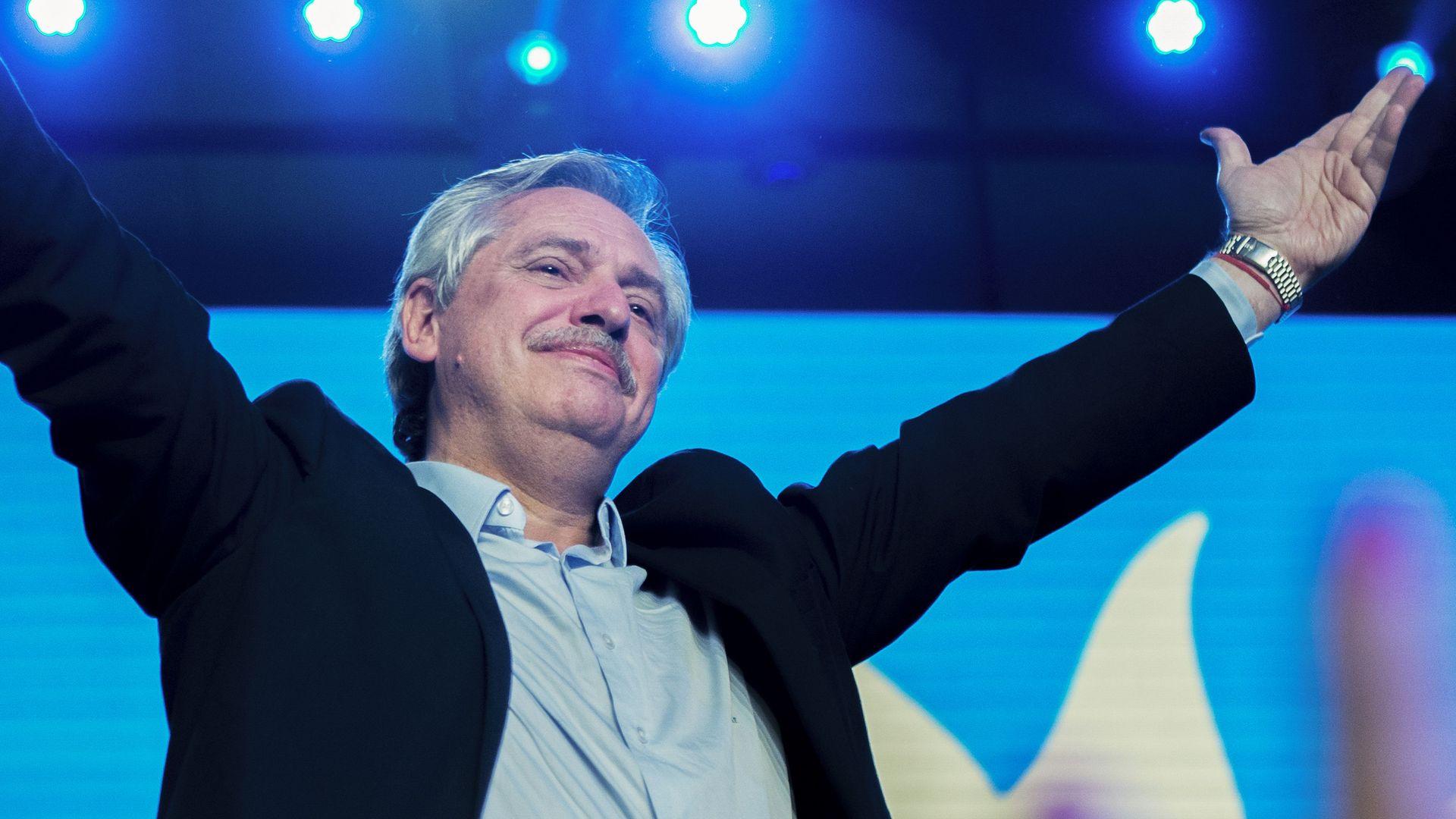 President-elect Alberto Fernandez.