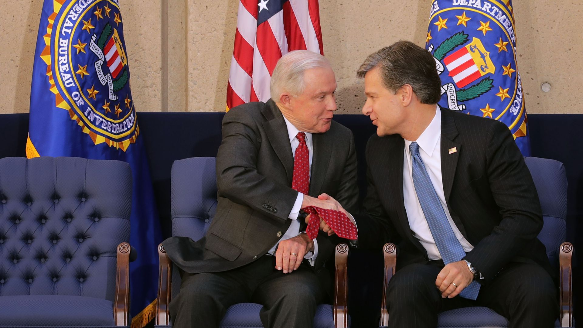 Jeff Sessions and Christopher Wray