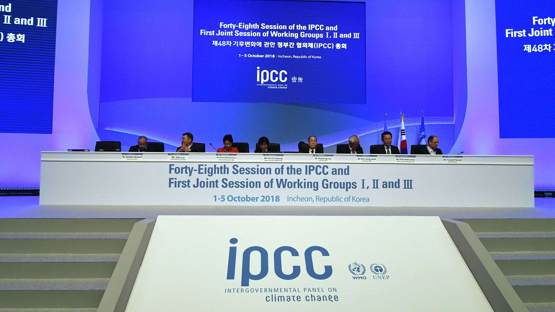 A meeting of the Intergovernmental Panel on Climate Change
