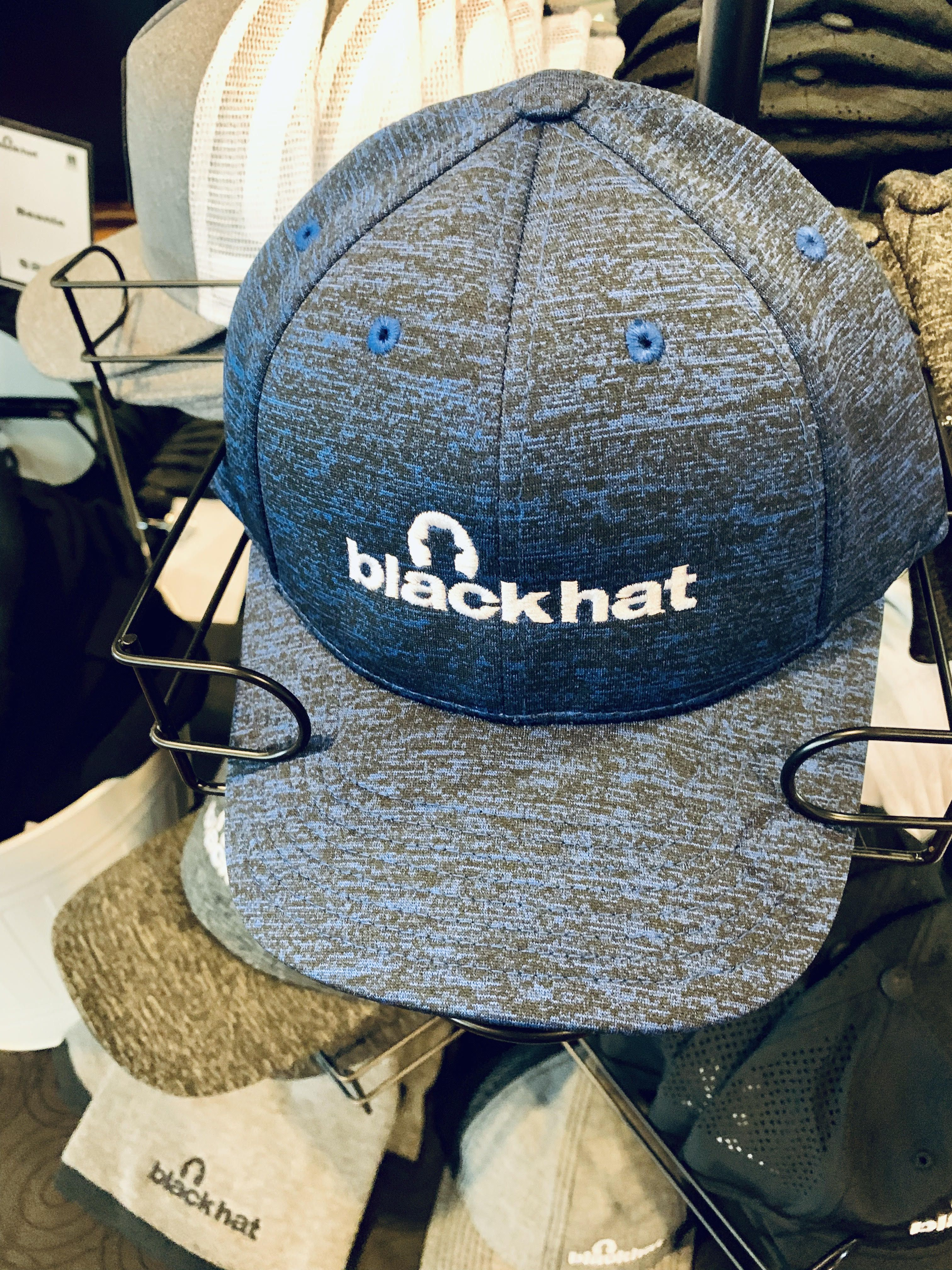 A blue hat that says Black Hat