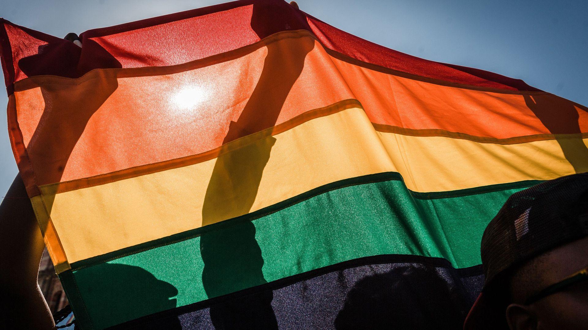 Gay pride flag. Photo: RAJESH JANTILAL/AFP/Getty Images