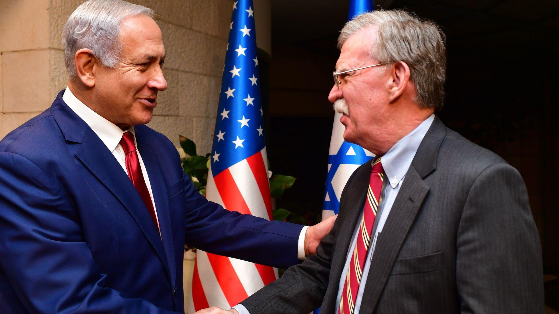 Б. Нетаньяху и Дж. Болтон