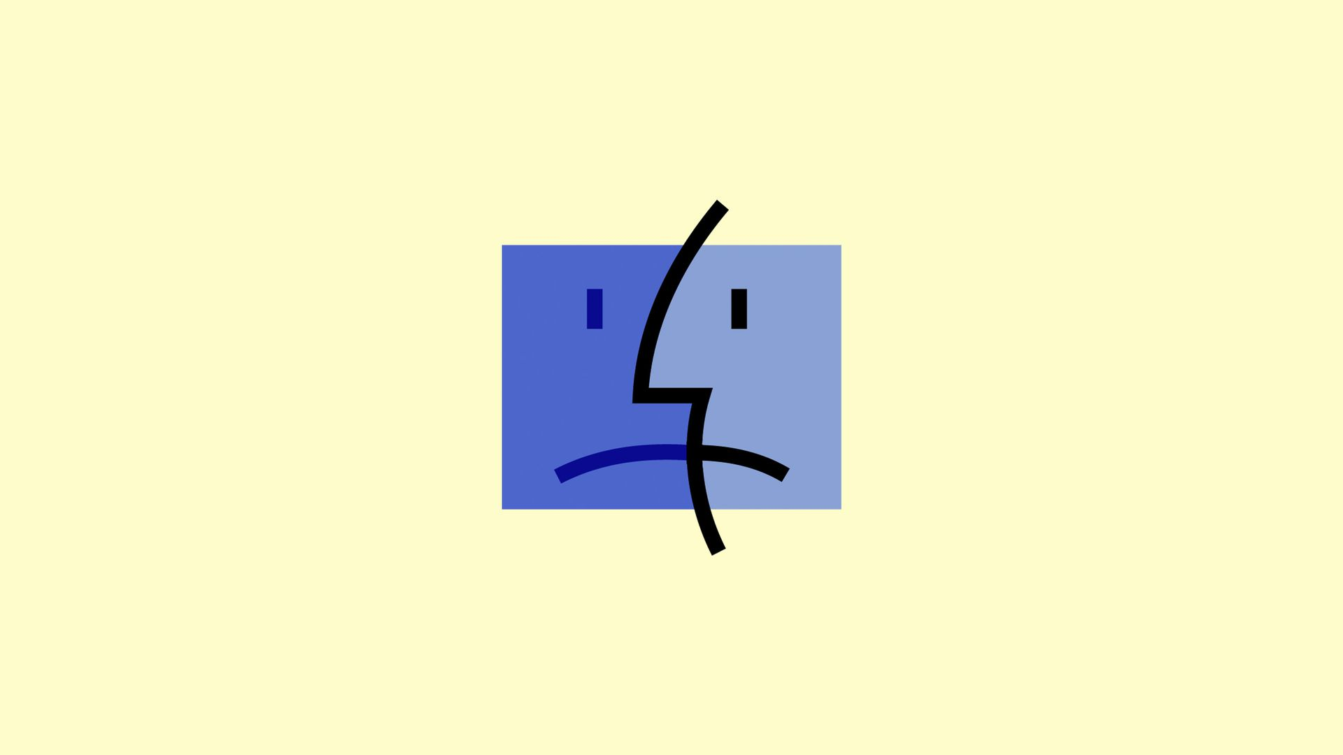 a sad Mac icon
