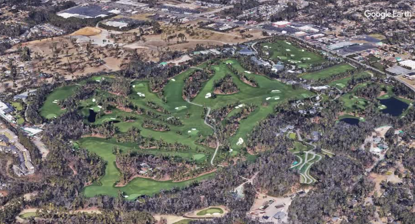 Aerial view of Augusta National