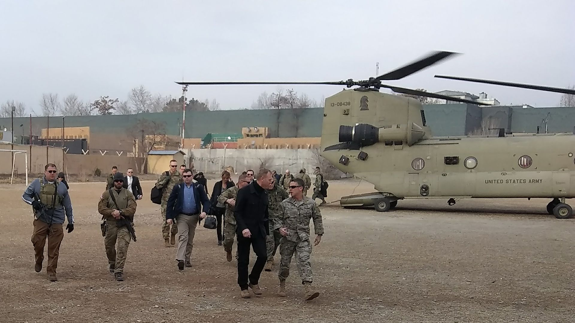 Acting Pentagon chief Patrick Shanahan arrives in Kabul on February 11, 2019.