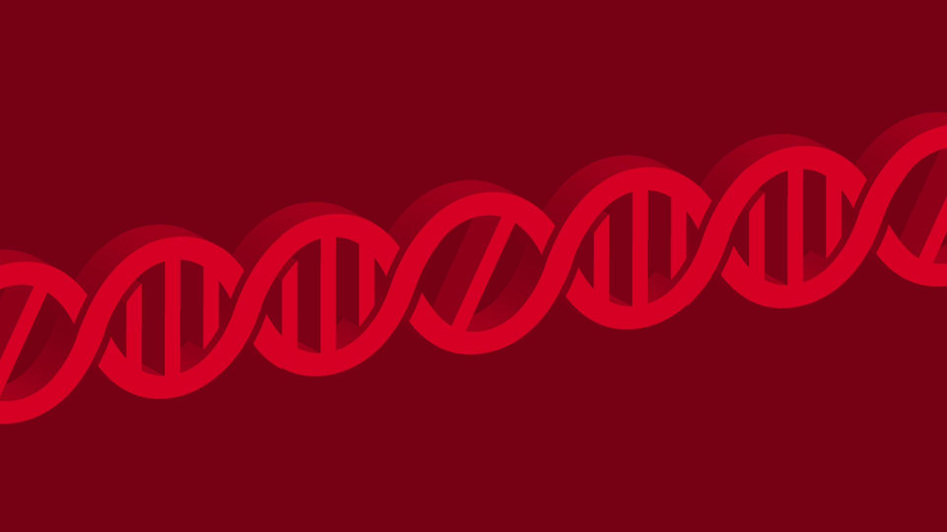 Illustration of a DNA strand with the middle link having a no-go sign
