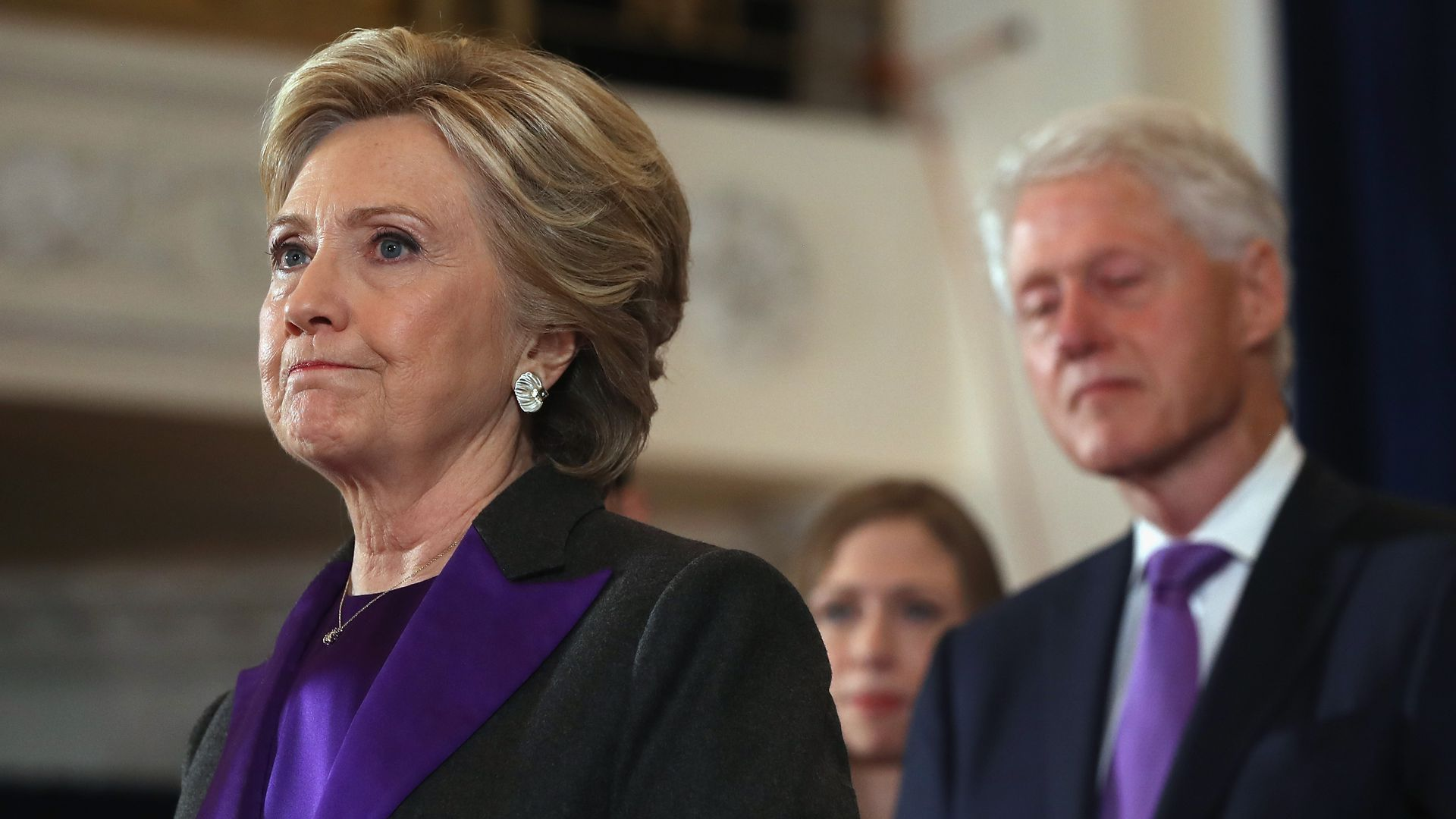 Former Secretary of State Hillary Clinton and her husband former President Bill Clinton. Photo: Justin Sullivan/Getty Images