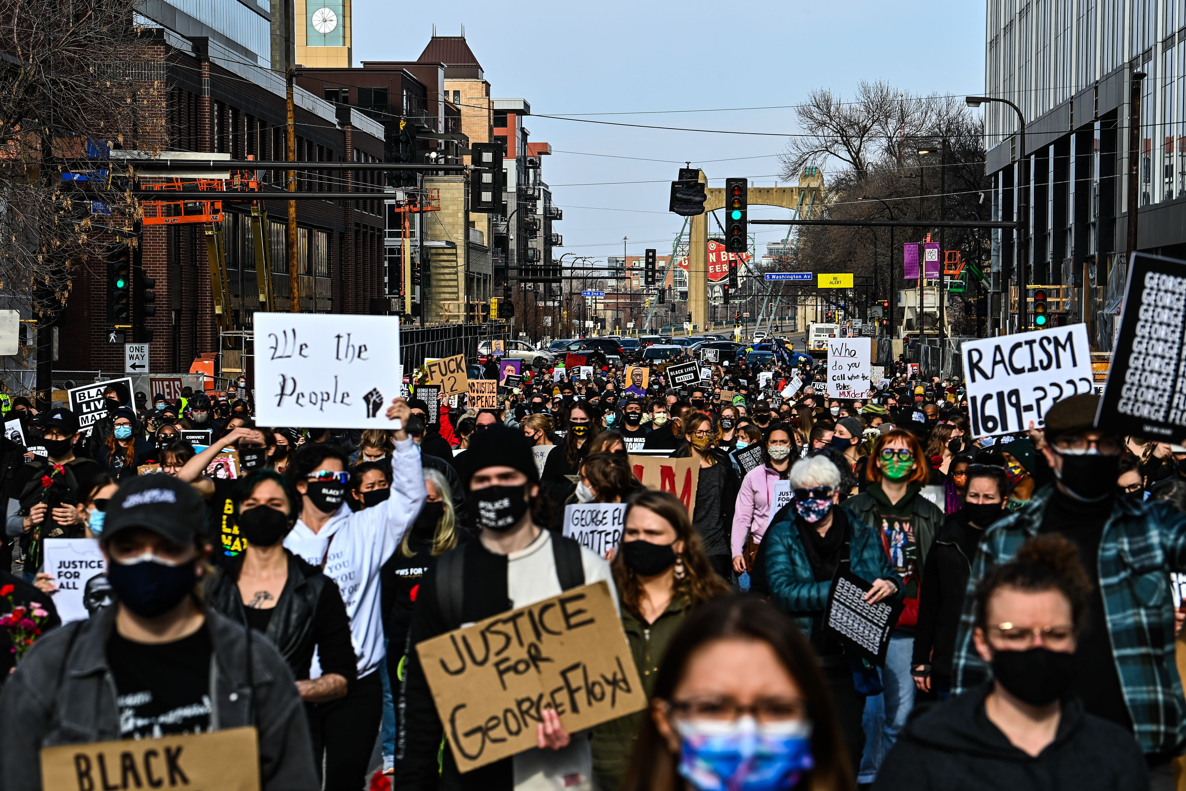 """The """"I Can't Breathe Silent March for Justice"""" protest on March 7."""
