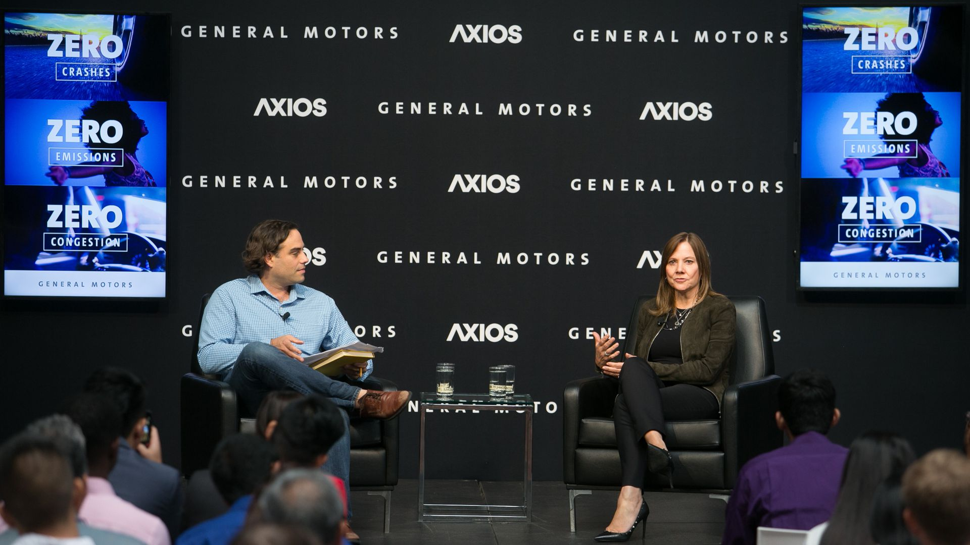 Axios Business Editor Dan Primack interviewing GM CEO Mary Barra.