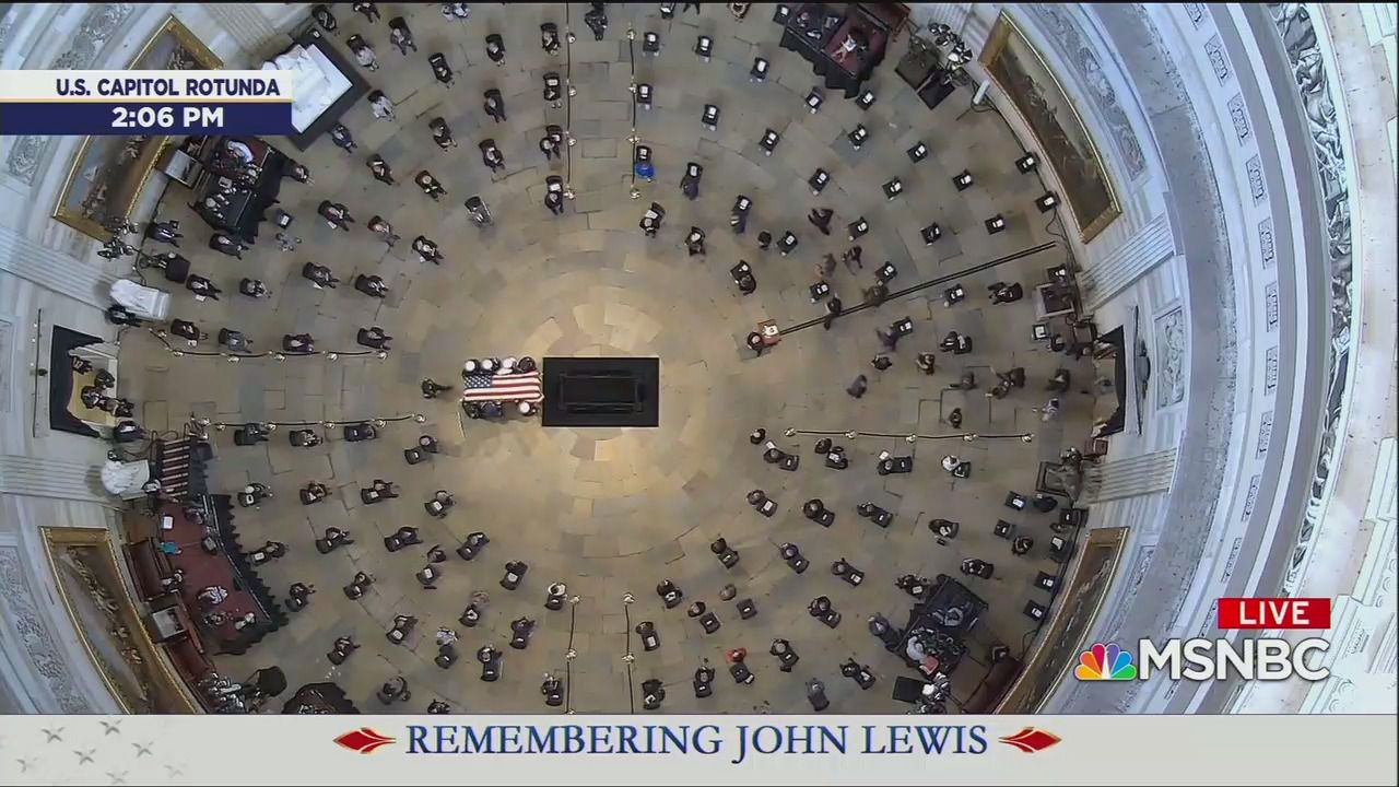 John Lewis becomes first Black American to lie in state in the Capitol Rotunda thumbnail
