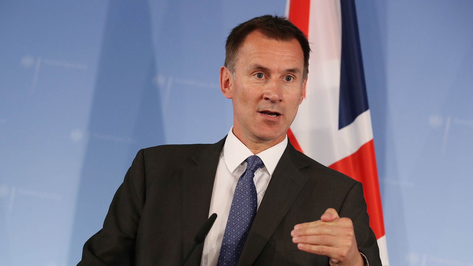 British foreign secretary Jeremy Hunt speaking