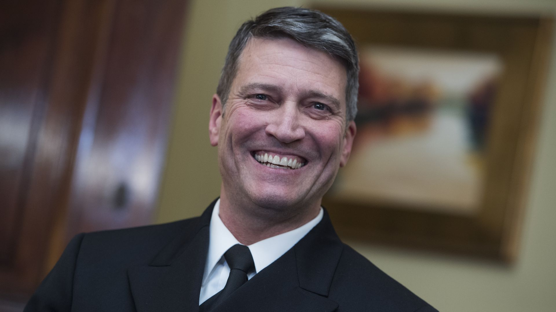 Ronny Jackson in a meeting on Capitol Hill