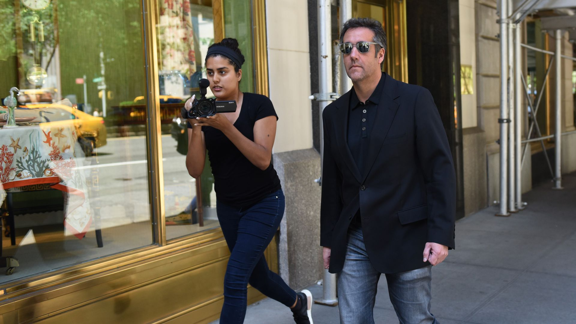 Michael Cohen walking to court