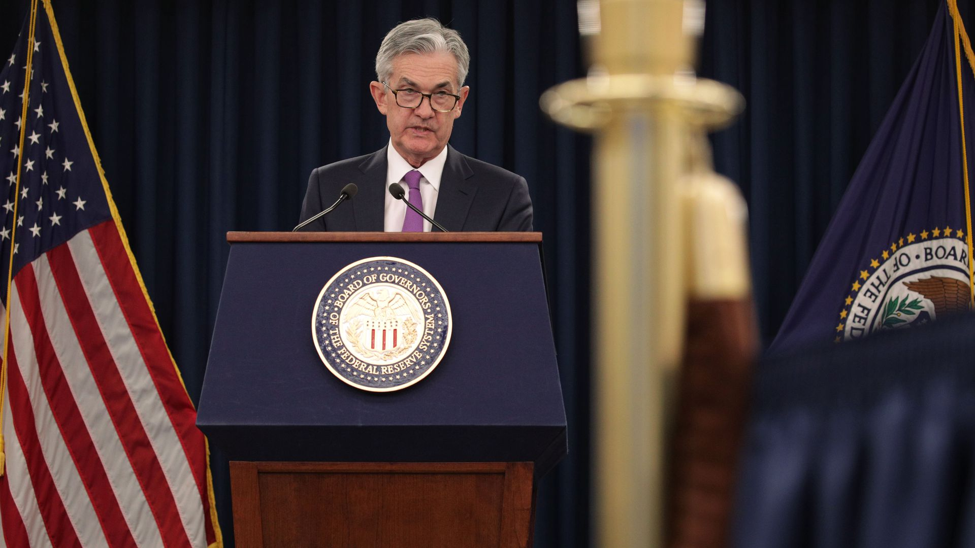 Fed chair jay powell at a press conference