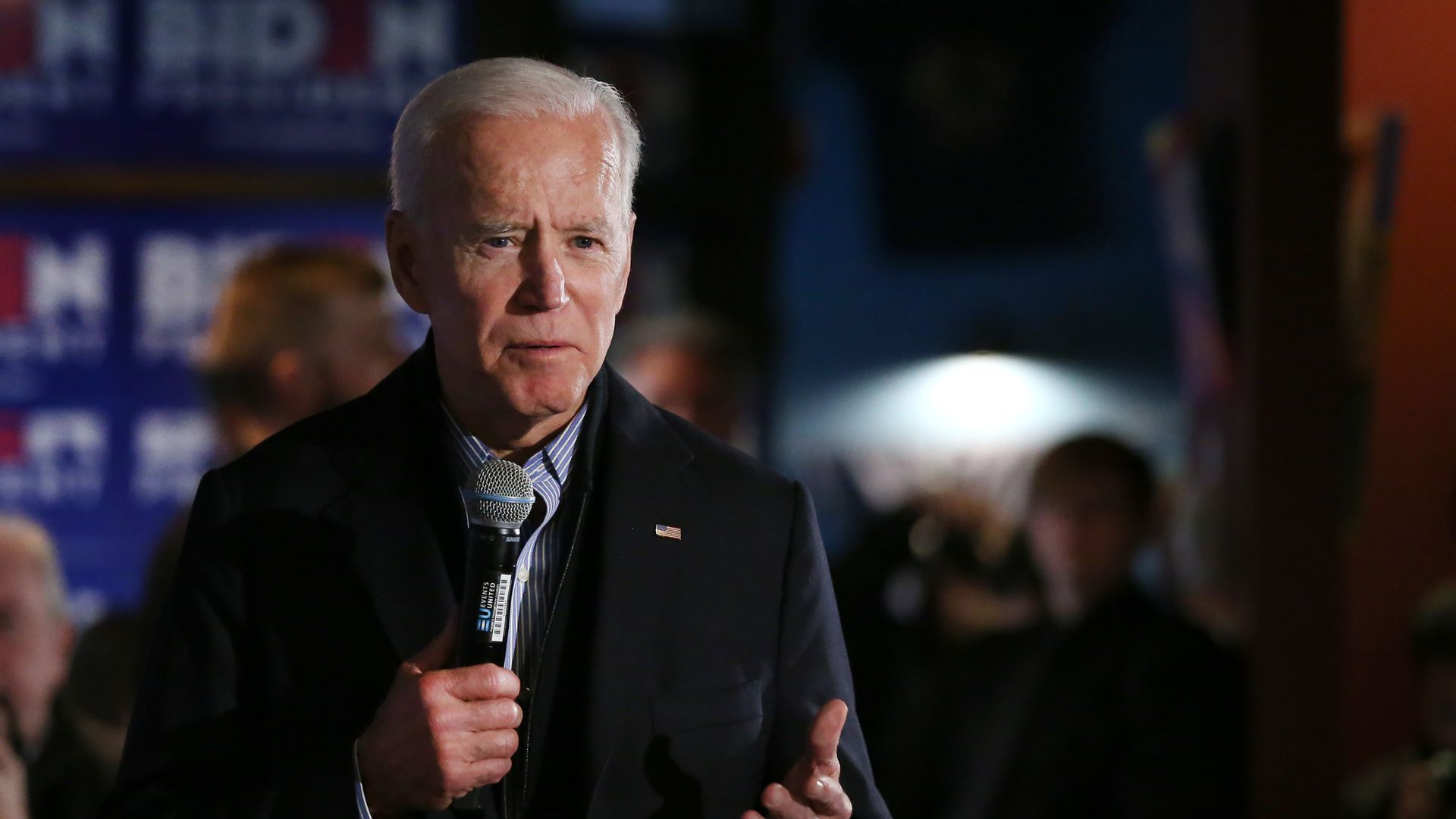 Former Vice President Joe Biden at a presidential campaign stop