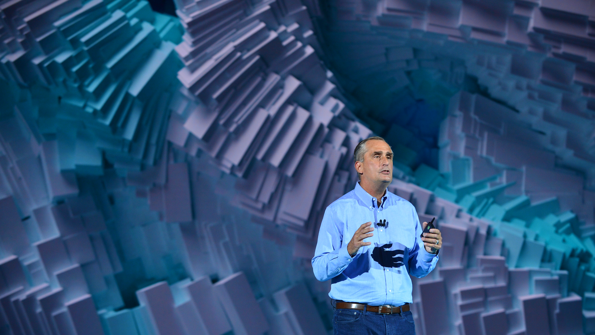 Intel CEO Brian Krzanich, speaking at CES 2018