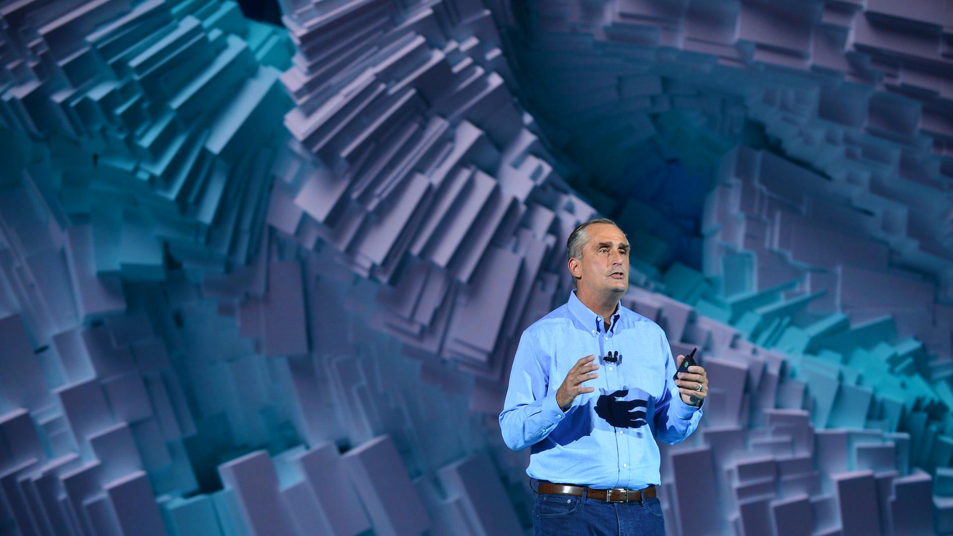 Intel CEO Brian Krzanich, speaking at CES 2018