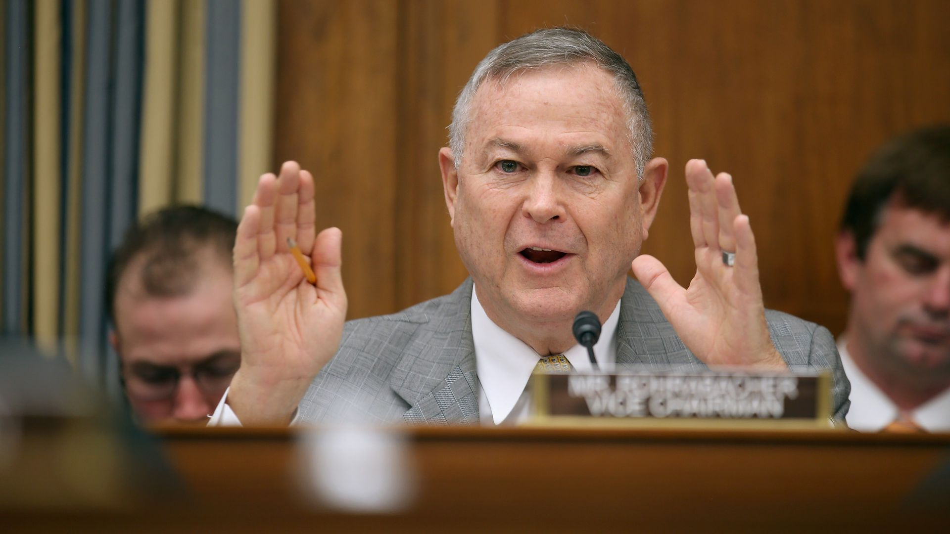 Dana Rohrabacher at a hearing