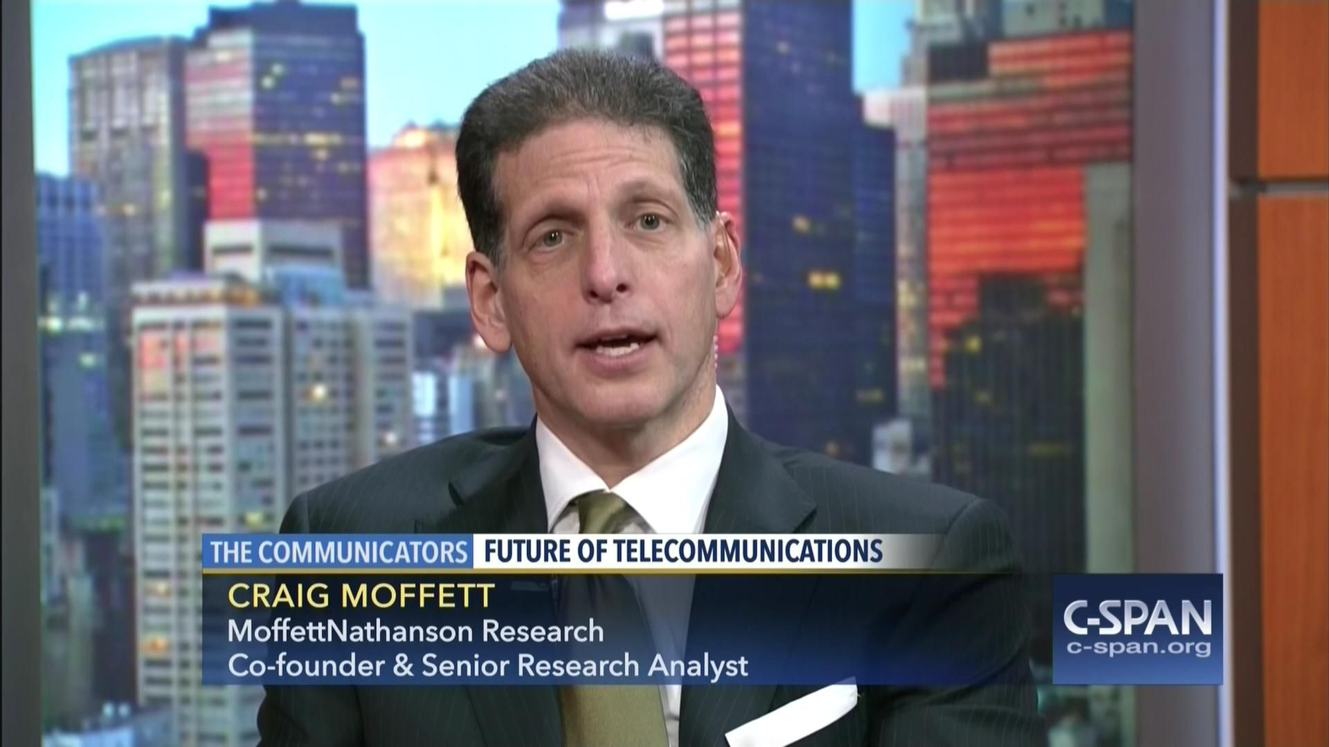 Craig Moffett appearing on C-SPAN