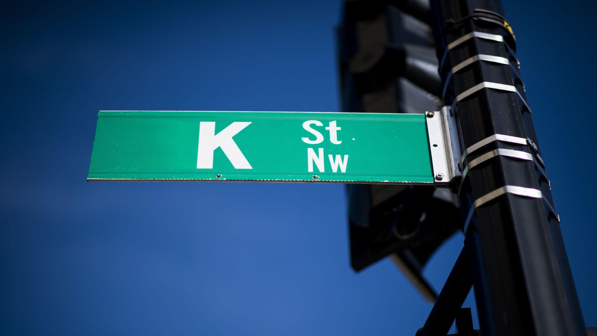 K Street sign in Washington, D.C.
