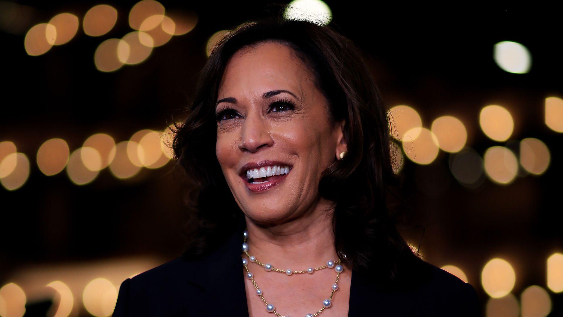 Sen. Kamala Harris (D-Cali.) during the 2020 Democratic Primary Debates