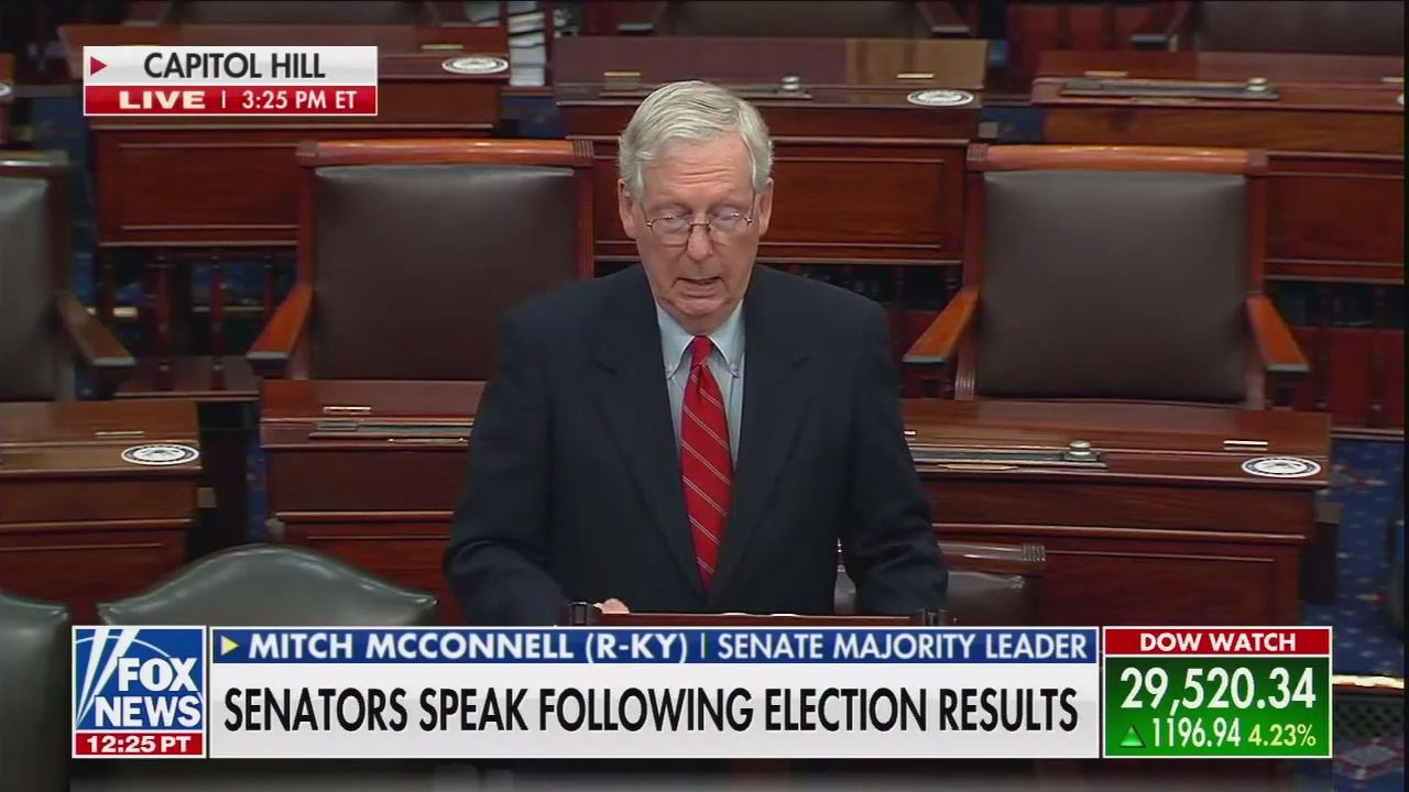 McConnell defends Trump's refusal to concede to Biden thumbnail