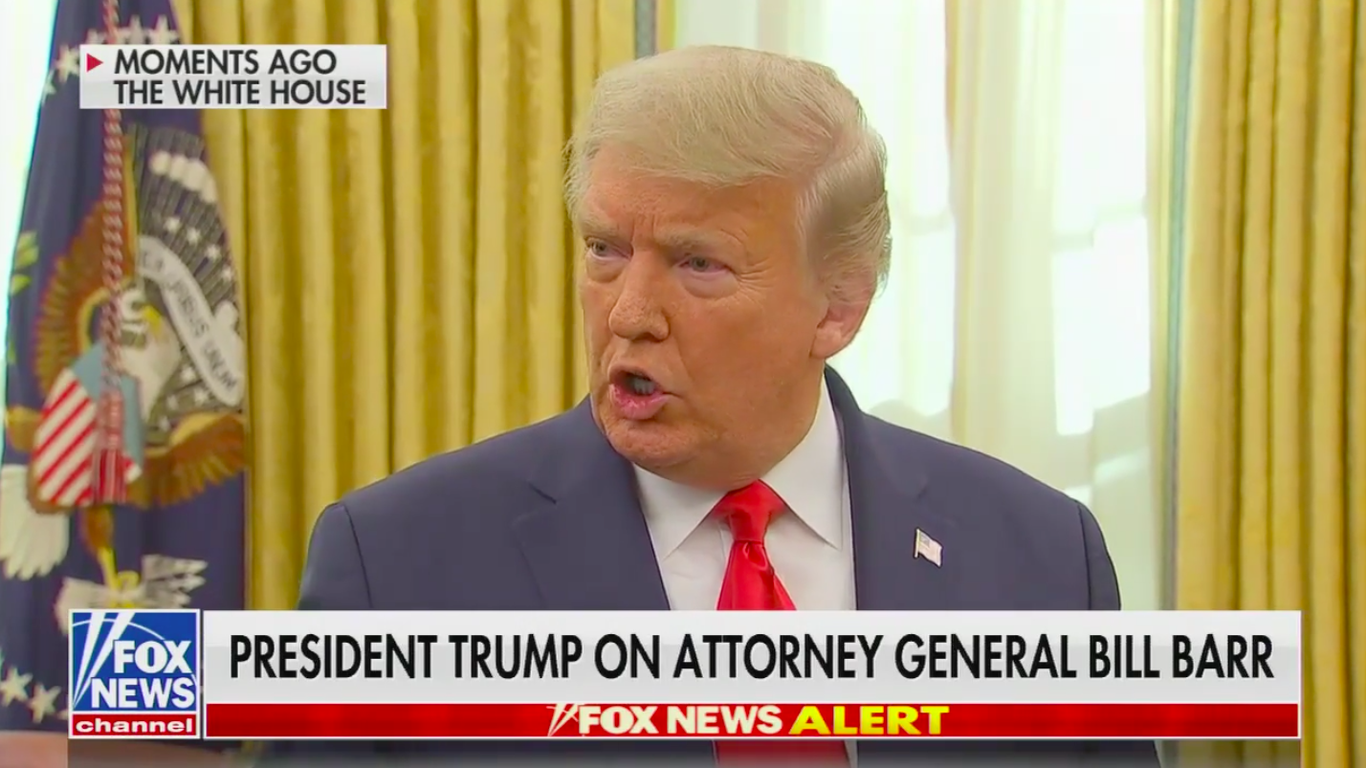 Trump refuses to say whether he has confidence in Barr thumbnail