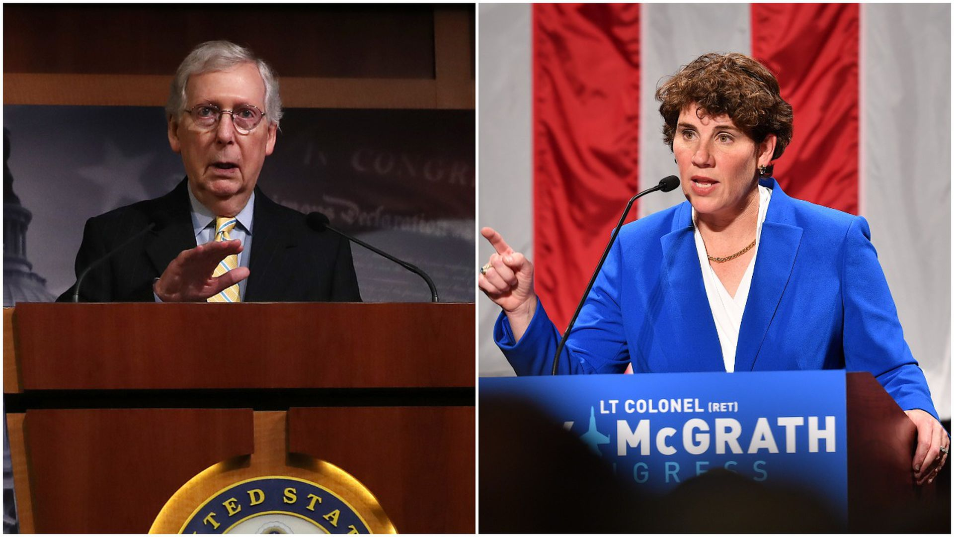 Mitch McConnell and Amy McGrath