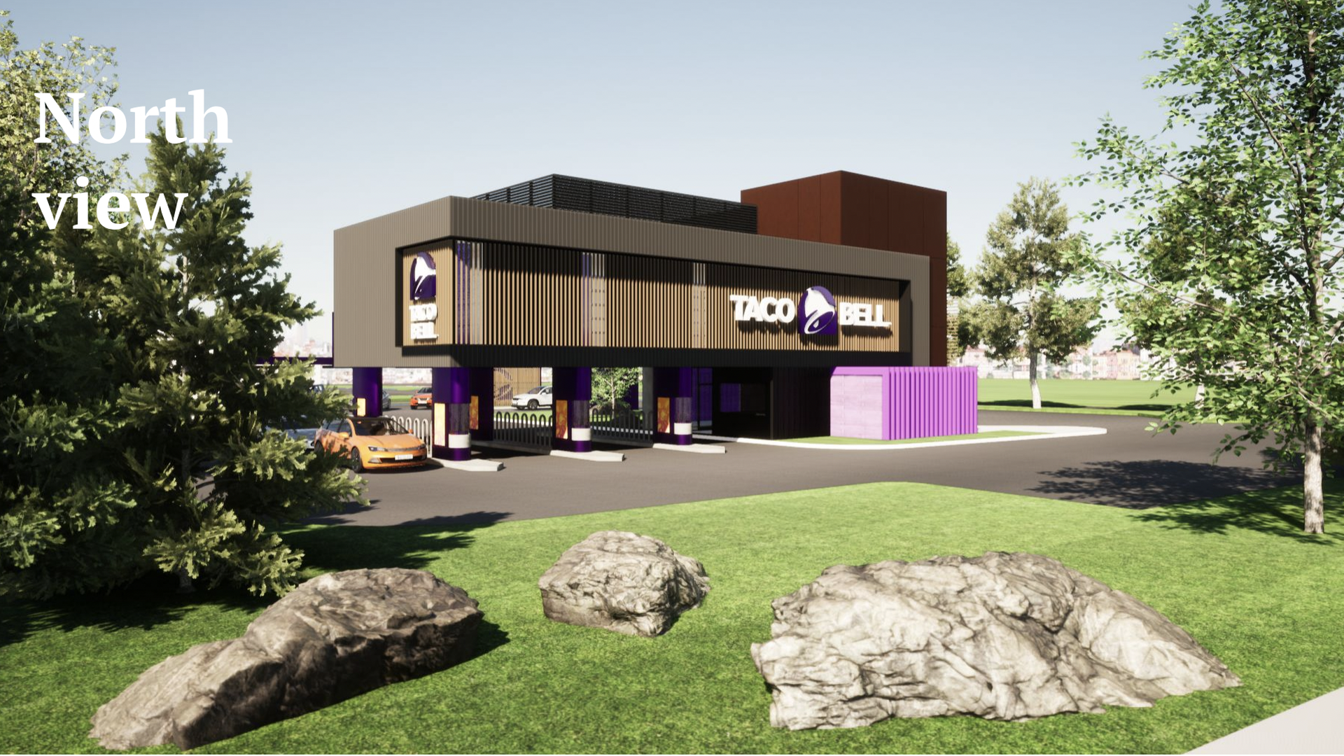 Picture of the proposed design of the Brooklyn Park Taco Bell
