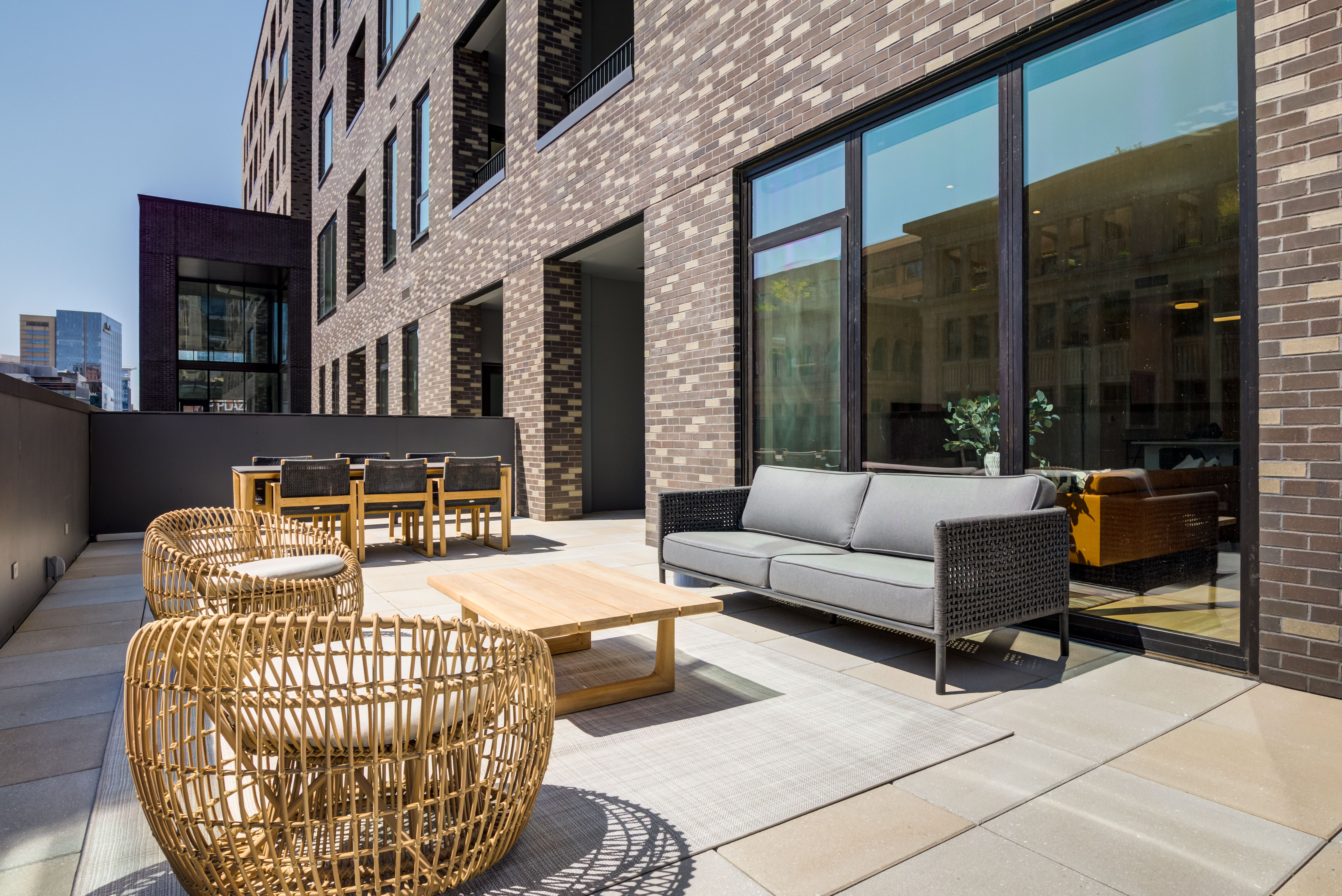 Residences at Market Station patio rooftop