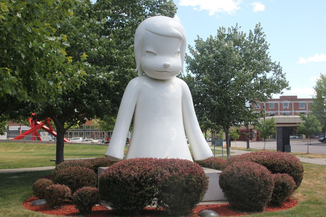 White Ghost sculpture at the Pappjohn Sculpture Park in Des Moines.