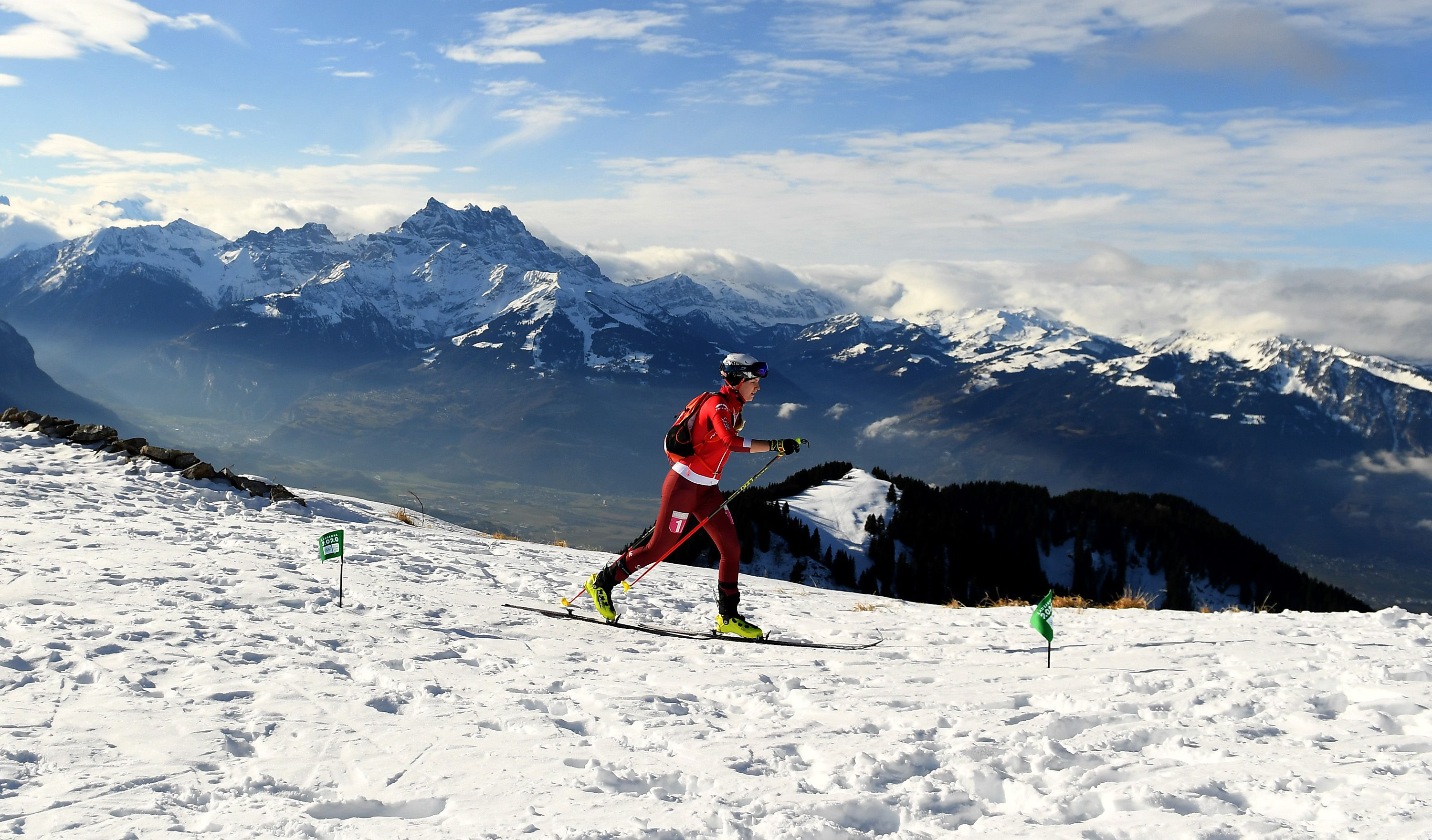 Women competing in ski mountaineering
