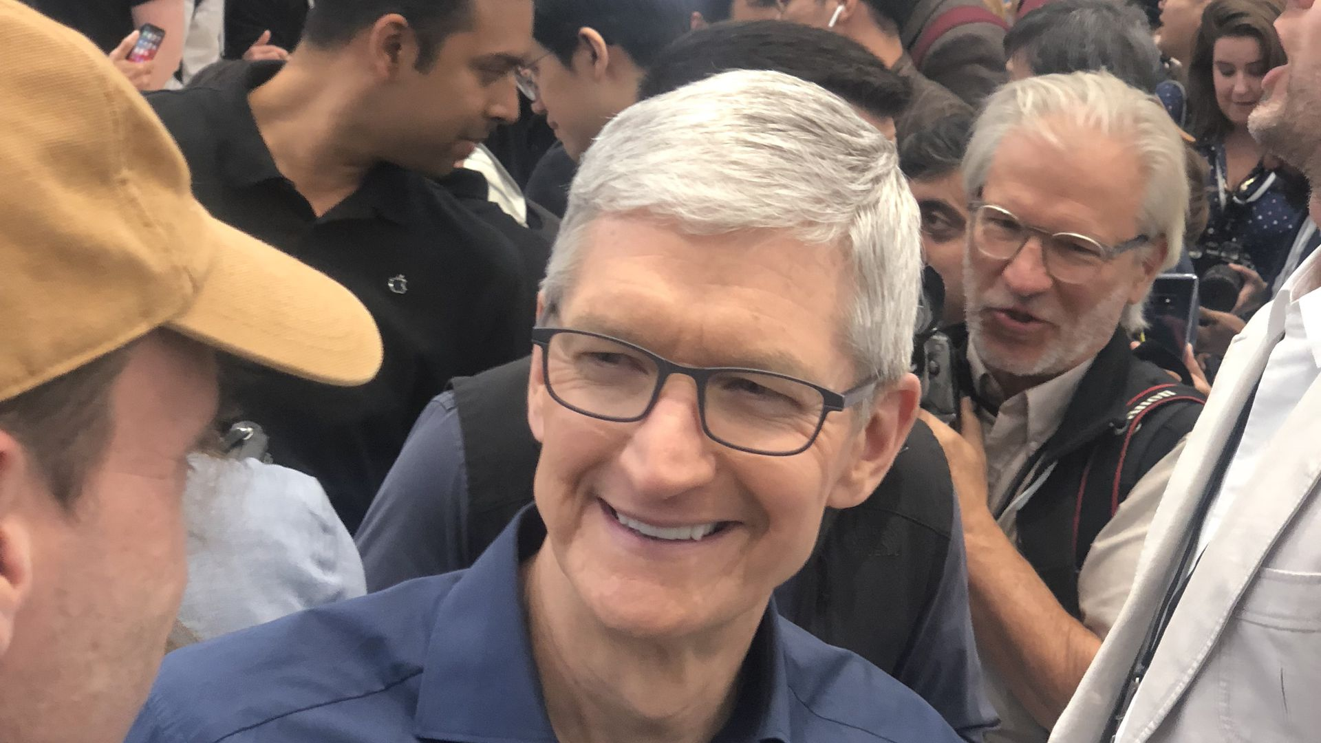 Apple CEO Tim Cook at a 2018 product launch