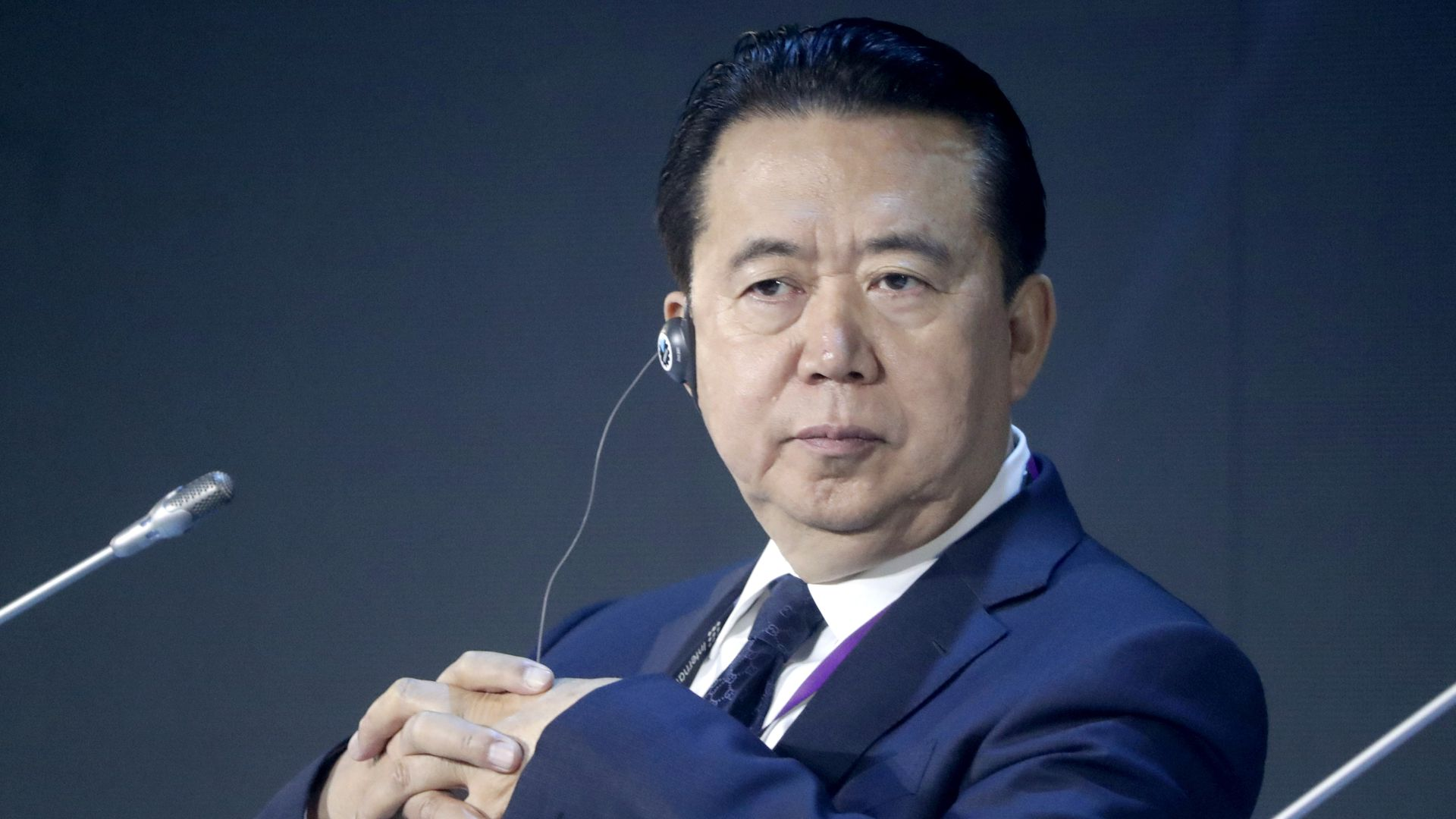 Interpol President Meng Hongwei. Photo: Mikhail Metzel/TASS via Getty Images