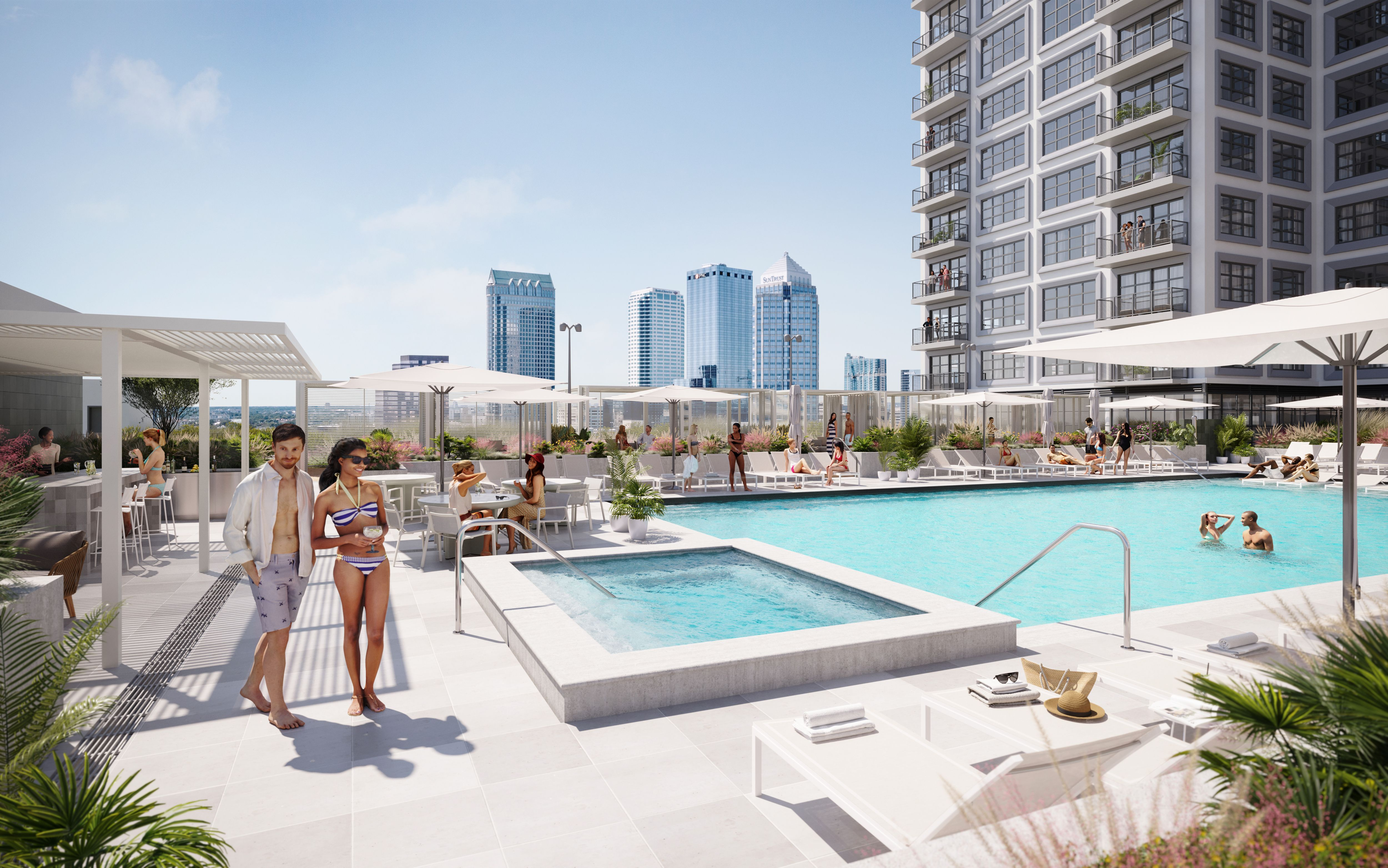 1050 Water Street pool deck