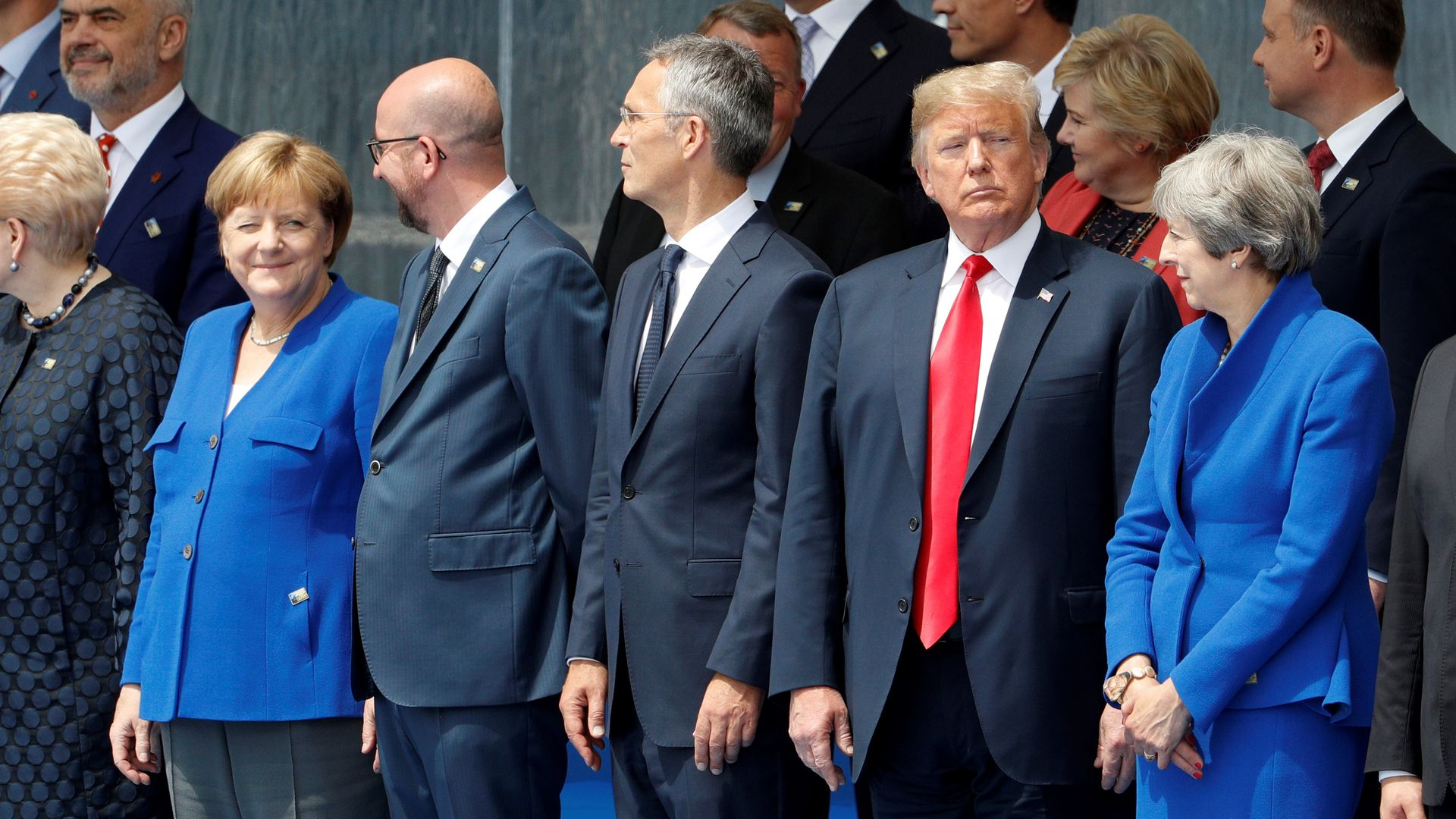 Trump stands in line with other NATO leaders