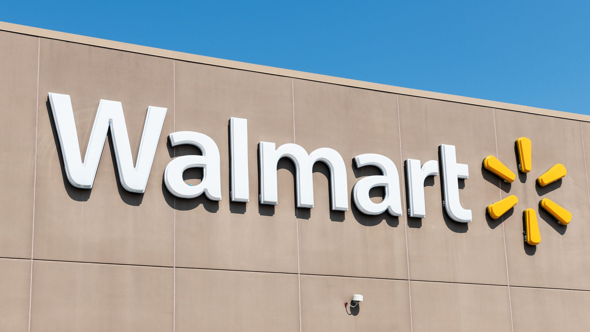 Photo of Walmart store's logo.