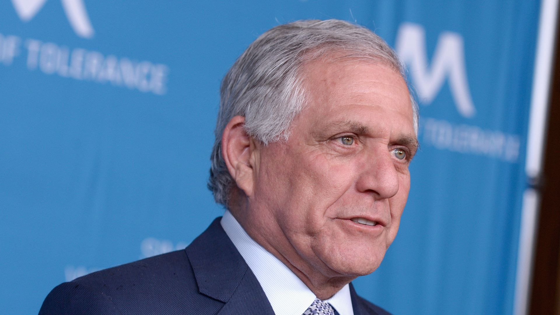 Les Moonves looks surprised.