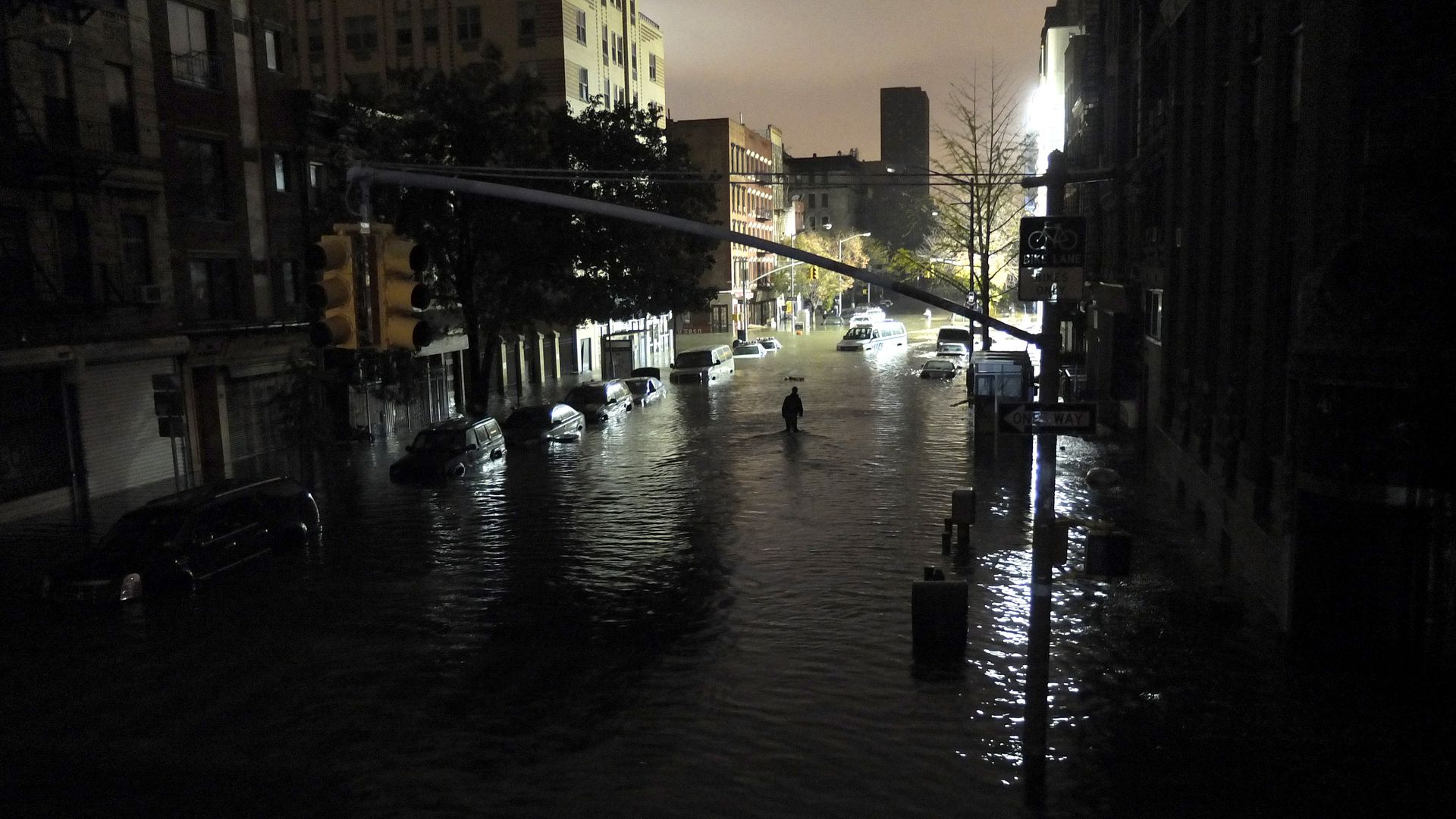 Hurricane Sandy, NYC, 2012.