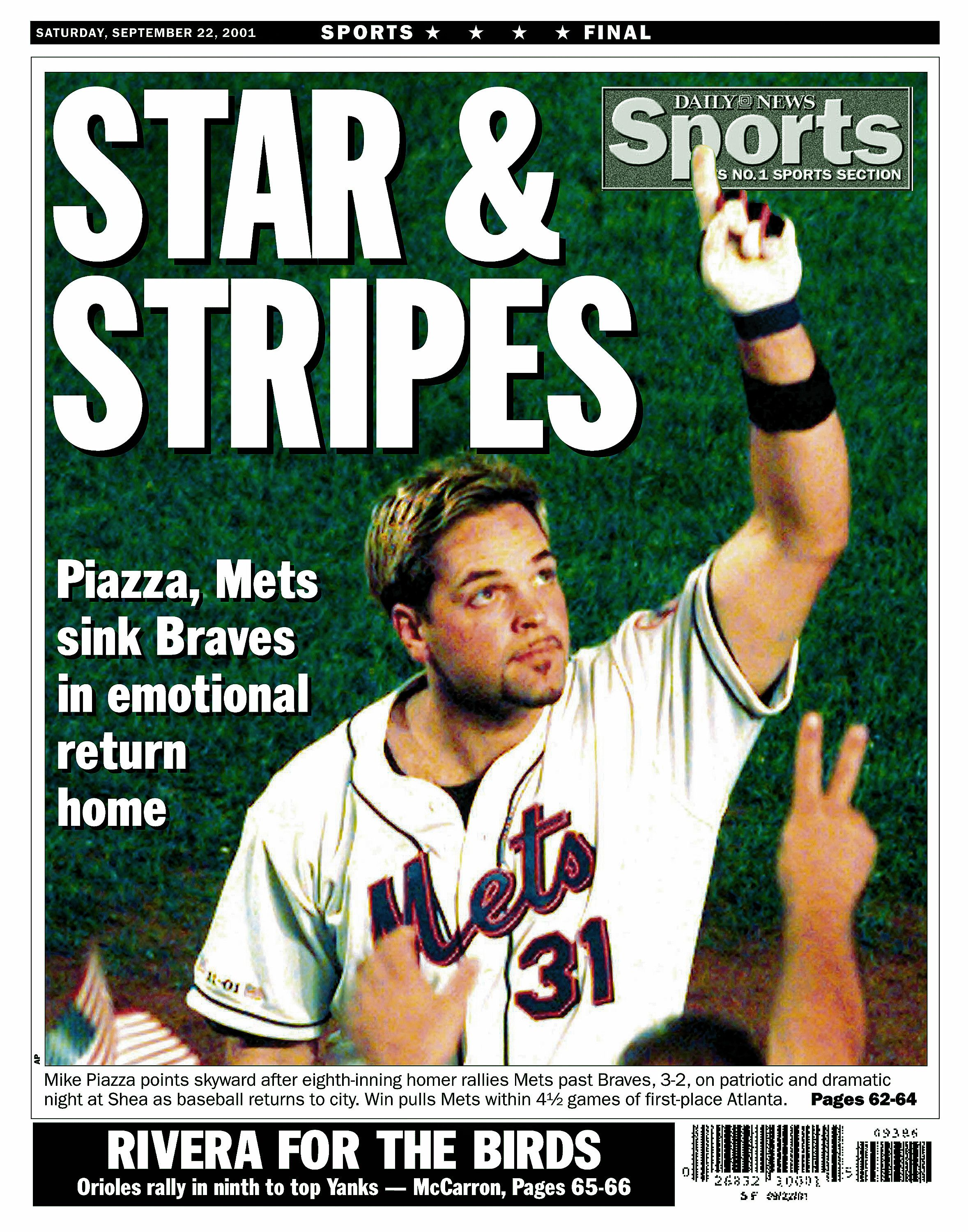 NY Daily News Mike Piazza cover