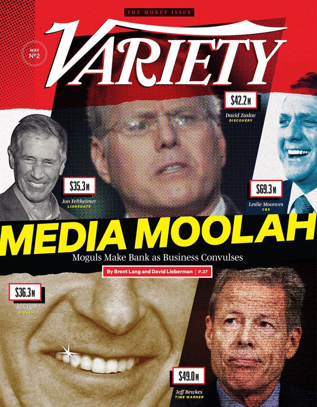 "Cover of Variety: ""Media Moolah"" is spread out across the front"